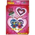 pack de inicio amor (2000 piezas y placa pegboard) hama beads midi
