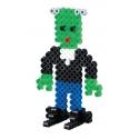pack de inicio miedo (2000 piezas, 6 soportes de pie y placa pegboard) hama beads midi