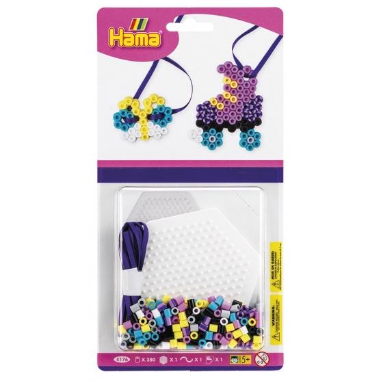 blister bicolor hexágono (350 piezas y 1 placa pegboard) hama beads midi