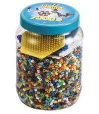 pack de inicio 7000 piezas y 2 placas pegboard hama beads midi