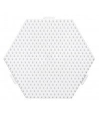 placa pegboard hexagonal 12 cm conectable para hama beads midi