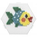 placa pegboard hexagonal 12 cm conectable para hama beads midi