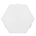 pack 4 placas pegboards hexagonales 12cm conectables para hama beads midi