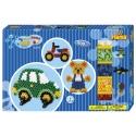 pack de inicio osito y coche (900 piezas, 2 soportes y 2 placas pegboards) hama beads maxi
