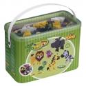 pack de inicio (3000 piezas, 8 soportes y 3 placas pegboards) hama beads maxi