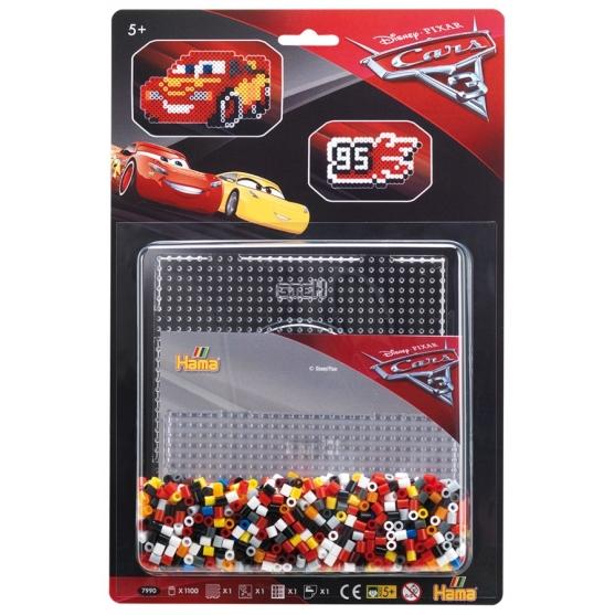 blister disney pixar cars 3 (1100 piezas y 1 placa pegboard) hama beads midi