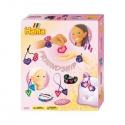 pack amistad (2.500 piezas, cordón, cinta y 1 placa pegboard) hama beads midi