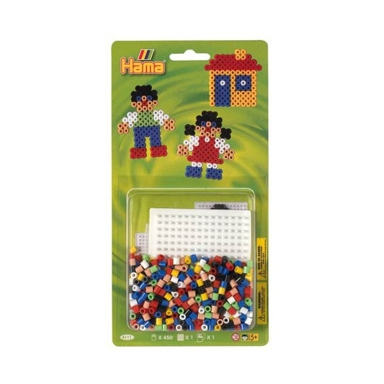 blister cuadrada pequeña ed.3 (450 piezas y 1 placa pegboard) hama beads midi