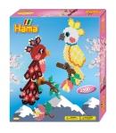 pack de inicio loros (2500 piezas y 2 placas pegboard) hama beads midi