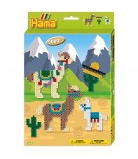 pack de inicio alpacas (2000 piezas y placa pegboard) hama beads midi