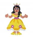 pack de inicio princesas (2000 piezas y placa pegboard) hama beads midi