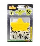 blister brilla en la oscuridad (375 piezas y 1 placa pegboard) hama beads midi
