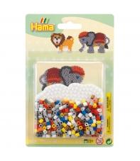 blister elefante pequeño (450 piezas y 1 placa pegboard) hama beads midi
