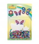 blister flor y mariposa (1100 piezas y 2 placas pegboards) hama beads midi