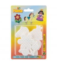 blister 3 placas pegboards (pony, flor y princesa pequeñas) para hama beads midi