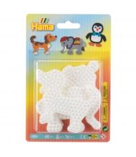 blister 3 placas pegboards (perro, elefante y pingüino pequeñas) para hama beads midi