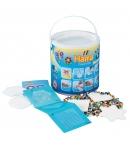 pack de inicio cubo gigante (20000 piezas, bead-tac y 5 placas pegboards) hama beads midi