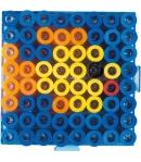 placa pegboard cuadrada transparente 7,5 x 7,5 cm conectable para hama beads maxi