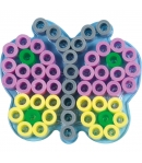 placa pegboard mariposa pequeña para hama beads maxi