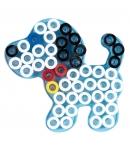 placa pegboard perro pequeña para hama beads maxi