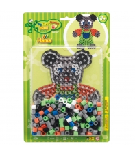 pack blister osito (250 piezas  y placa pegboard) hama beads maxi