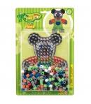 pack blister osito (250 piezas, 2 soportes y placa pegboard) hama beads maxi