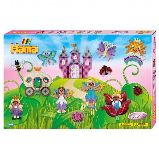 pack de inicio hadas (6000 piezas y 3 placas pegboards) hama beads midi