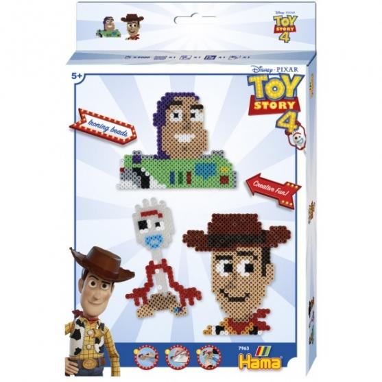 pack de inicio toy story 4 (2000 piezas y 1 placa pegboard) hama beads midi
