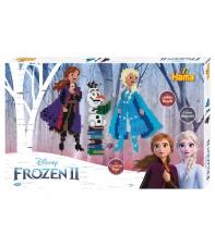 pack de inicio disney frozen II grande (6000 piezas y 3 placas pegboards) hama beads midi