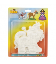 blister 3 placas pegboards (princesa, caballo y gato) para hama beads midi