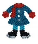 pack de inicio vestir a la moda (4000 piezas, 2 gemas, 2 espumas y placa pegboard) hama beads midi