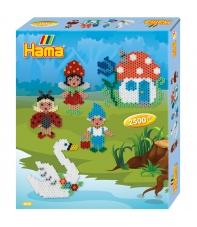 pack de inicio elfos (2500 piezas y 1 placa pegboard) hama beads midi