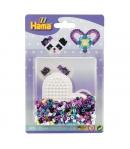 blister bicolor corazón (350 piezas y 1 placa pegboard) hama beads midi