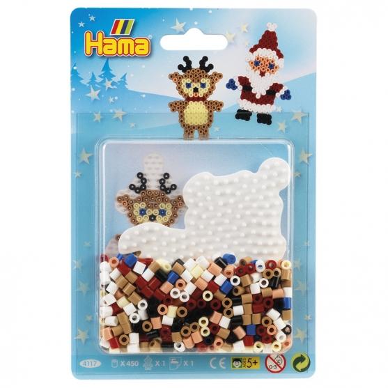blister navidad (450 piezas y 1 placa pegboard) hama beads midi