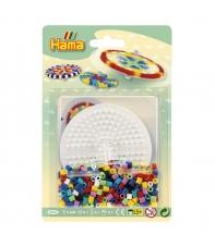 blister peonza (600 piezas, placa pegboard y conector) hama beads midi