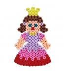 pack de inicio poni, flor, princesa (3000 piezas y 4 placas pegboards) hama beads midi