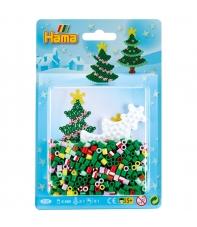 blister arbol de navidad (450 piezas y 1 placa pegboard) hama beads midi