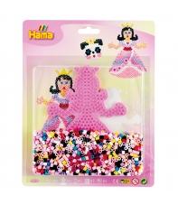 blister princesa (1100 piezas y 1 placa pegboard) hama beads midi