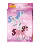 pack de inicio unicornios (2000 piezas y 1 placa pegboard) hama beads midi