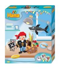 pack de inicio lapicero piratas (2500 piezas y placa pegboard) hama beads midi
