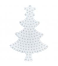 placa pegboard árbol de navidad para hama beads midi