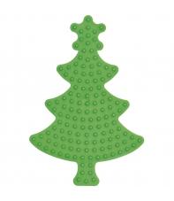placa pegboard árbol de navidad verde para hama beads midi