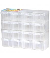 organizador 16 compartimentos con tapa hama beads