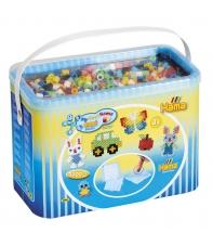 pack de inicio (3000 piezas, bead-tac y 3 placas pegboards) hama beads maxi