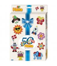pack de inicio 50 aniversario (2000 piezas y 3 placas pegboards) hama beads midi