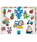 pack de inicio 50 aniversario (4000 piezas y 2 placas pegboards) hama beads midi