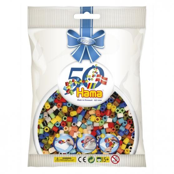 Hama Beads Midi, Mix 2000 piezas 50 aniversario