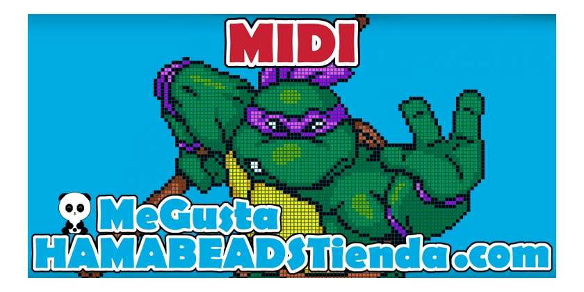 Donatello hama beads midi